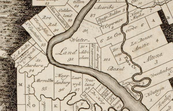 Familienamen afkomstig van welke plantage? - Namenlijsten per plantage aan de Boven Suriname. Dubbelklik voor document.