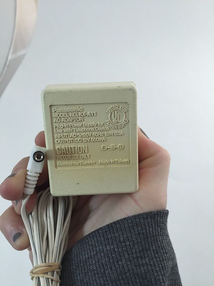 Panasonic KX-A11 12V 500mA DC Power Supply Adapter