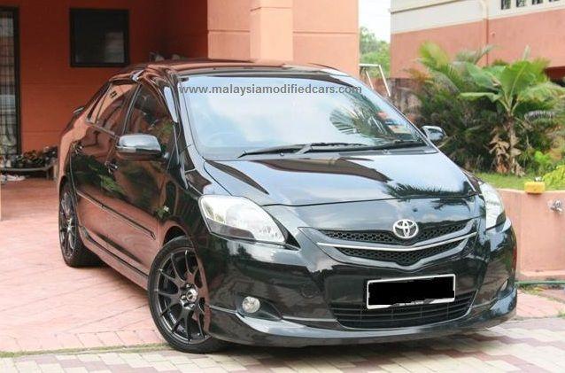 modified toyota vios sedan also called belta vitz yaris 2nd generation malaysia modified. Black Bedroom Furniture Sets. Home Design Ideas