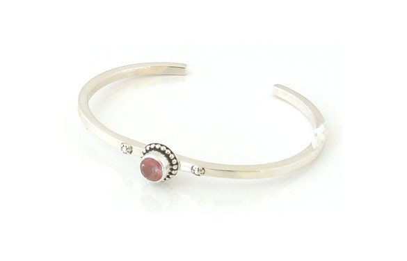 Paua World - Sterling Silver Cuff With Light Rose Quartz, $80.00 (http://www.pauaworld.com/sterling-silver-cuff-with-light-rose-quartz/)