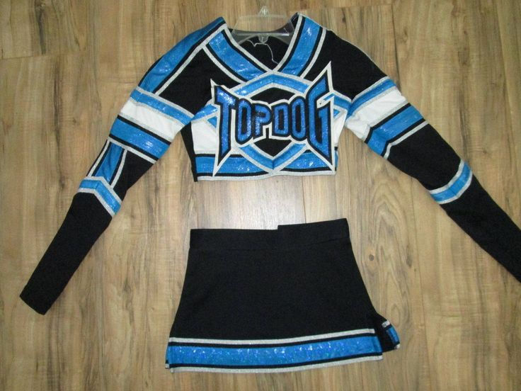 "cool TOP DOG Varsity Cheerleader Uniform Outfit Costume 28"" High Skirt 23 Little one Youth"
