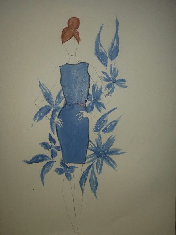 Fashion illustration for 10 things project.