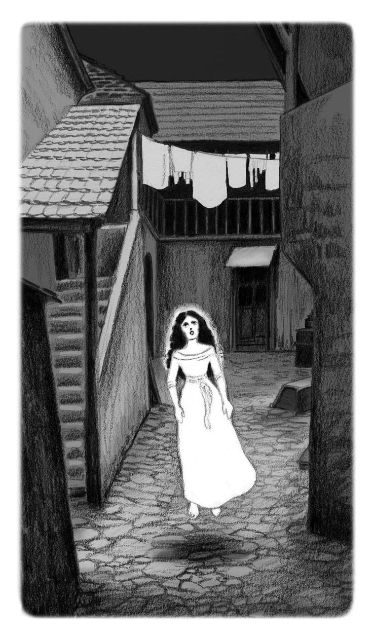 Lucie Lomová #Ilustrace #illustration #blackandwhite #pencildraw #ghost #prague #illustrator #ilustratorka #kresba #tuzka #kresbatuzkou #duch