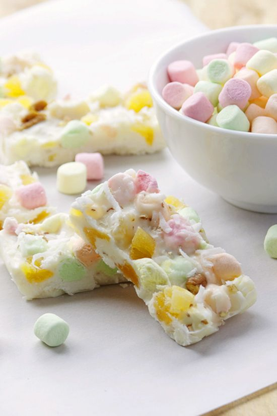 Tropical Marshmallow White Chocolate Bark