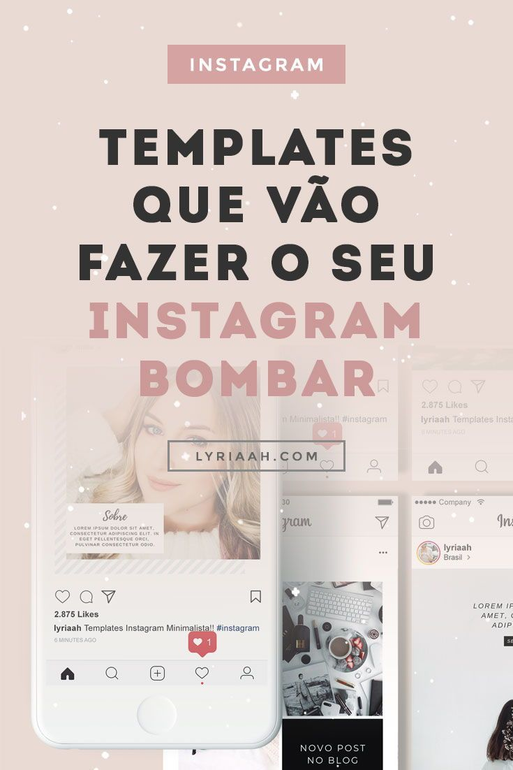 Instagram Templates Minimalista Instagram Dicas Templates Para