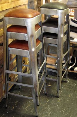 Industrial Bar Stools - in store now via KOKO Classics