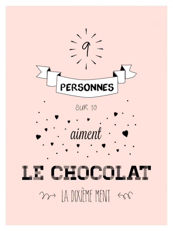 Joyeuse journée internationale du Chocola! À cette occasion, distribuez ces petites phrases garanties 0 calories autour de vous.
