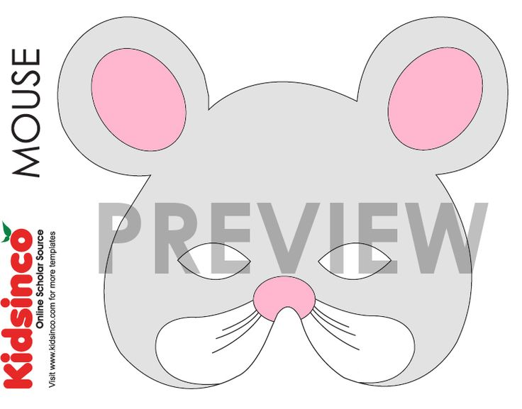17 best images about templates kaavat askarteluihin ym on for Printable mouse mask template