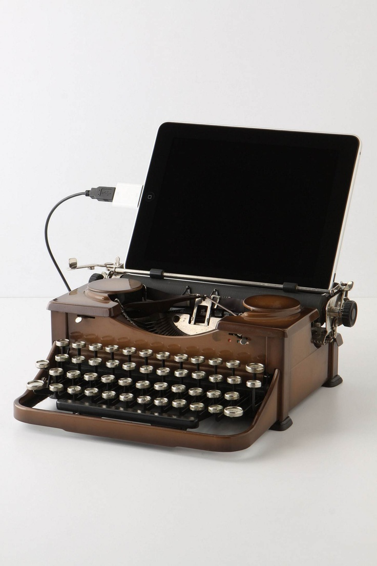 USB Typewriter, Royal. To plug your ipad into. If only it weren't so expensive!