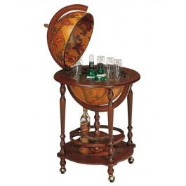 Bar glob pamantesc pe rotile - alege un bar glob clasic, pentru persoanele care apreciaza obiectele clasice!
