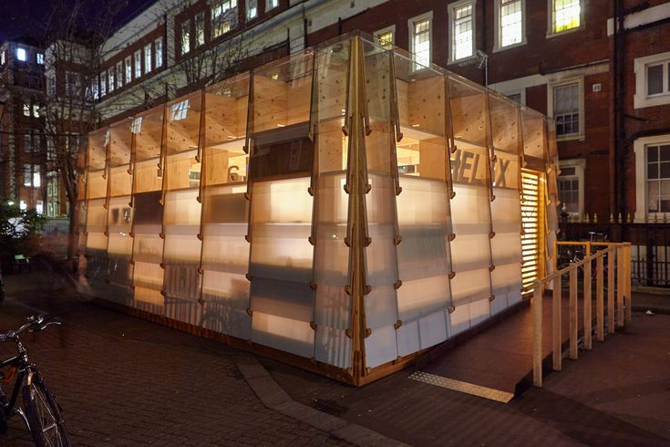 Small Project Highly Commended 2015 Location: London Client/Owner: Imperial College Architect: Royal College of Art Architecture Students Structural Engineer: AKTII Main Contractor/Builder: Millimetre Joinery Company: Millimetre Environmental Design: Max Fordham Cost Control: Gardiner & Theobald LLP Wood Supplier: Sydenhams Ltd, Lathams Wood Species: Kerto-S LVL from Finland, WISA-Spruce and WISA-Birch plywood from Europe, European Engineered Oak The Healthcare Innovation Exchange (HELIX)…