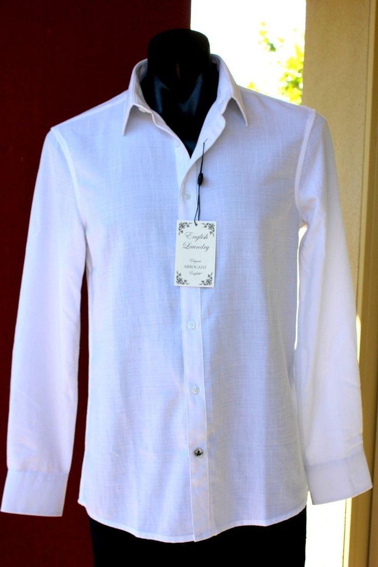 english laundry - London Bridge Shirt White Linen