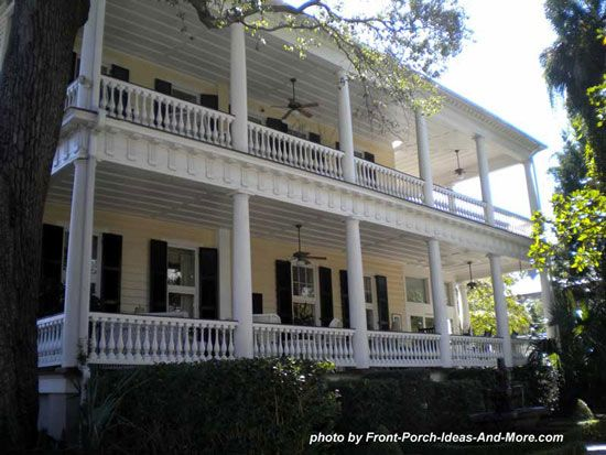 Charleston style house plans side porch steak