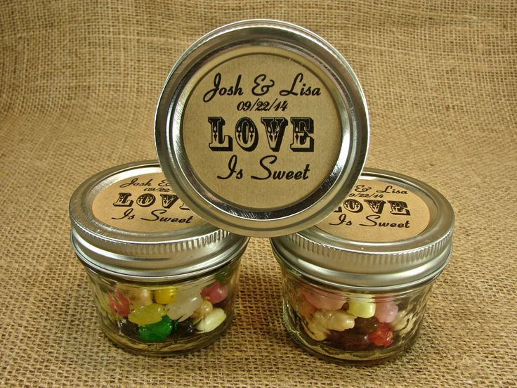 Mason Jar Wedding Favors Personalized 20 Four By Glactsupply 47 75