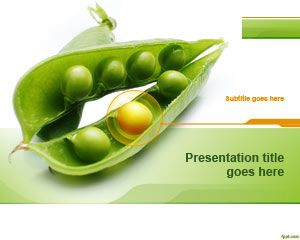 Peas PowerPoint Template