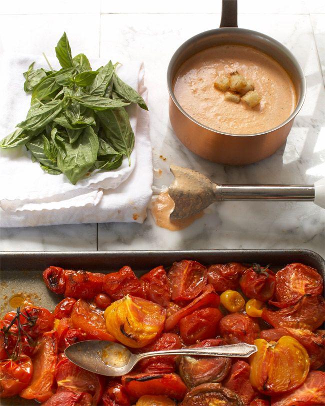 Roasted Tomato Soup with Fresh Basil: Fresh Basil, Tomato Soups, Tomato Basil, Basil Minus, Basil Recipe, Roasted Tomatoes, Basil Paleo, Food