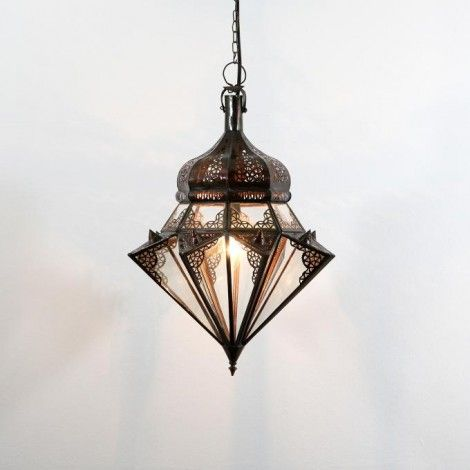 Lampa z Maroka JAWHARA transparentna