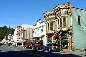 The Victorian Village of Ferndale, California...one of America's most unique towns. People really live and carry on daily business there. It is a beautiful photo op! Jim Carrey's movie, The Majestic, was filmed here.