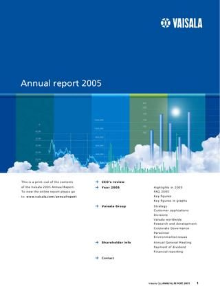 Vaisala Online Annual Report 2005