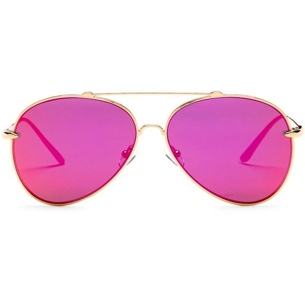 AQS Sunglasses Unisex Tommie Aviator Sunglasses ($50) ❤ liked on Polyvore featuring accessories, eyewear, sunglasses, hot pink, mirror aviators, aviator glasses, mirror glasses, mirrored lens aviators and metal aviator sunglasses