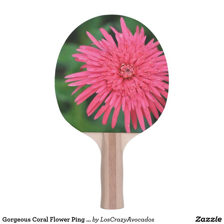 Gorgeous Coral Flower Ping Pong Paddle