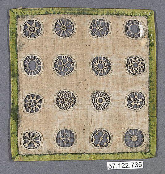 19th Century German needle lace sampler