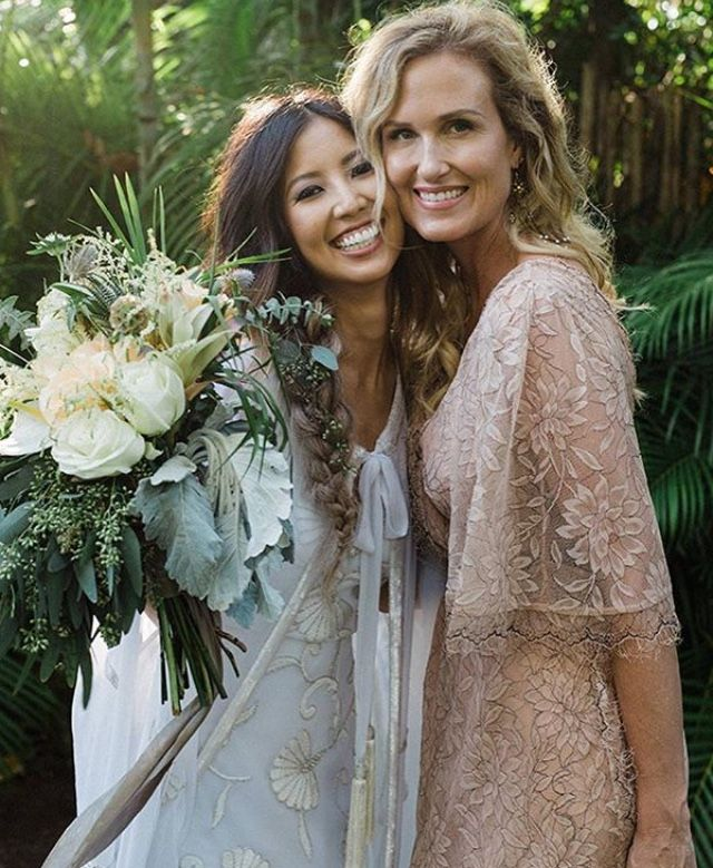 Rebecca And Her Mom Korie On Her Wedding Day Wedding Dresses Lace Rebecca Robertson Wedding Wedding Dresses