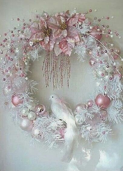 Shabby chic wreath christmas pinterest shabby chic - Navidad shabby chic ...