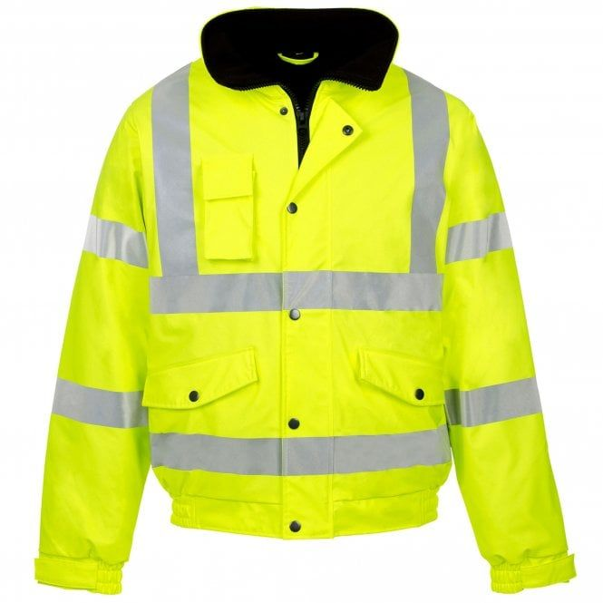 Supertouch High Visibility Waterproof Work Safety Security Parka Coat Black Navy