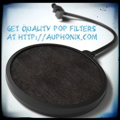 Great pop filters are important for your recordings. Get a Great Filter and a Great Discount at http://auphonix.com