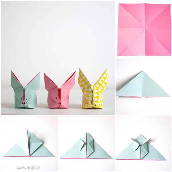 Een origami haas vouwen doe je zo   Moodkids