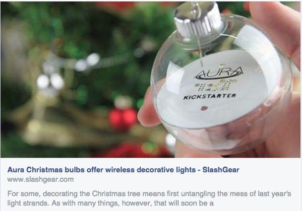 Tech News Aura Wireless Powered Christmas Lights Video
