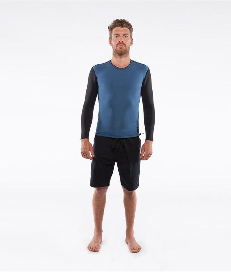 Chase Cascade Blue/Blk Reversible L/S Vest