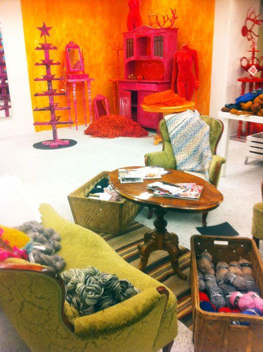 """""""Happy Color Yarn Shop"""" in Stockholm, pinned by Ton van der Veer"""
