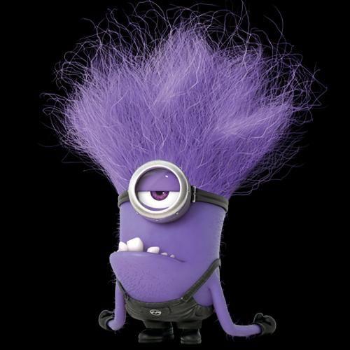 злой фиолетовый миньон картинка время