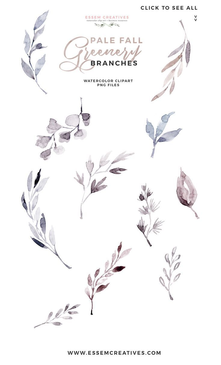 Watercolor Fall Leaves Clipart Floral Frames Watercolour Wreath