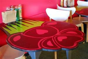 Cupcake shaped table...Yuuppp only my cupcake design...gotta do this ♥