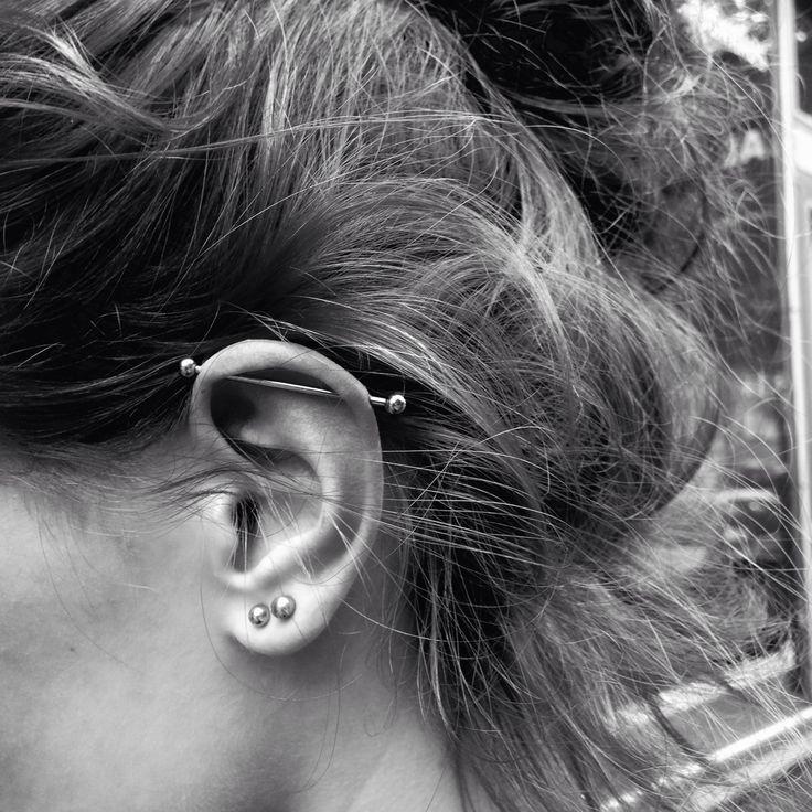 got my industrial pierced today
