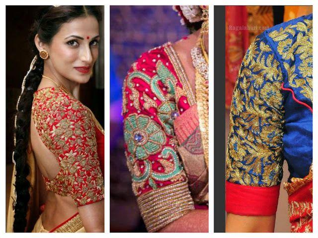 Elbow Length Blouse Designs for Silk Sarees - Saree Blouse Patterns