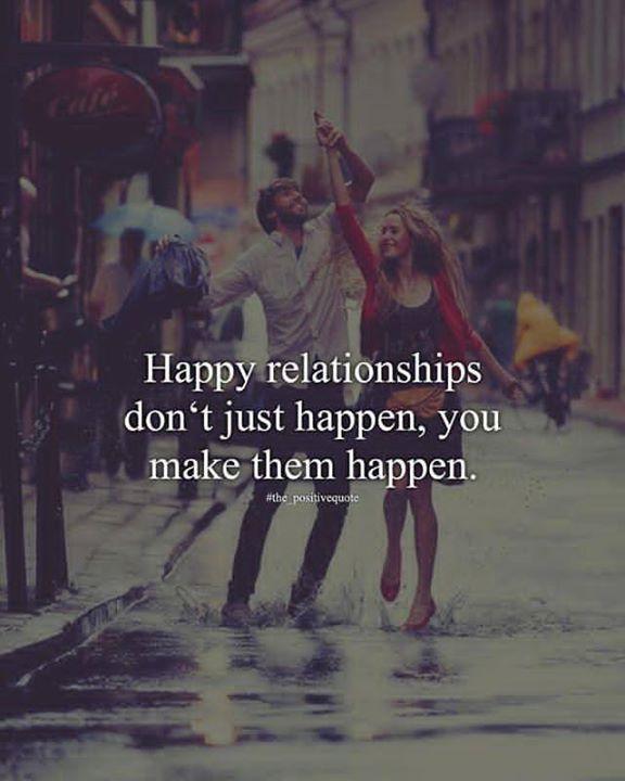 Happy relationships don't just happen..