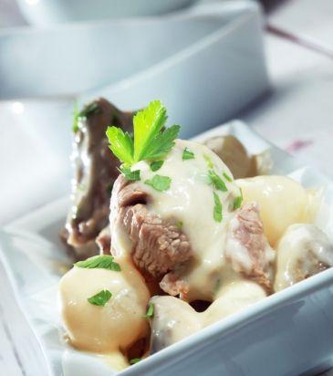 Μοσχάρι γάλακτος blanquette με μανιτάρια | Γιάννης Λουκάκος