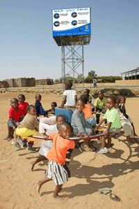 This picture is from PlayPumps International, which combines pumping well water with merry-go-rounds for play in villages lacking access to good drinking water.  A South African advertising executive named Trevor Field invented the idea, and I think it is a brilliant example using available resources to serve God and others.  Not only does this provide a needed resource for people, but it enhances the play of children!