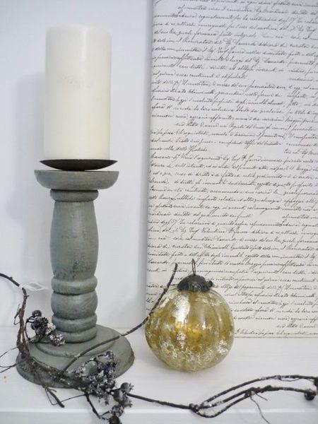 juldekoration,grå ljusstake,vintage,lantligt jul
