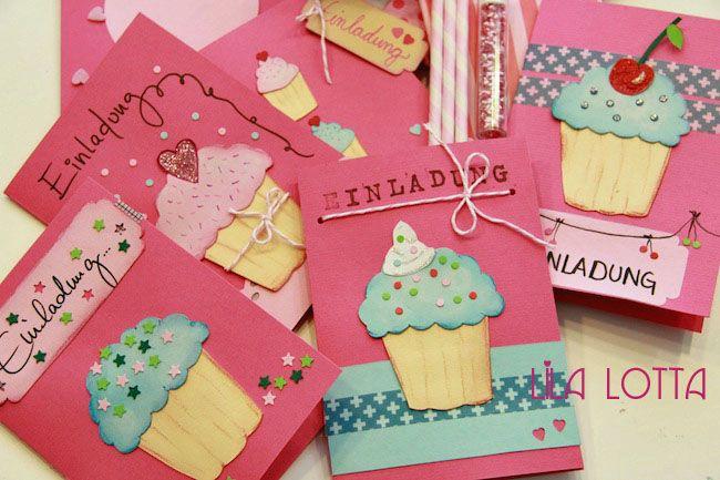 Cupcake Einladungskarten DIY ...