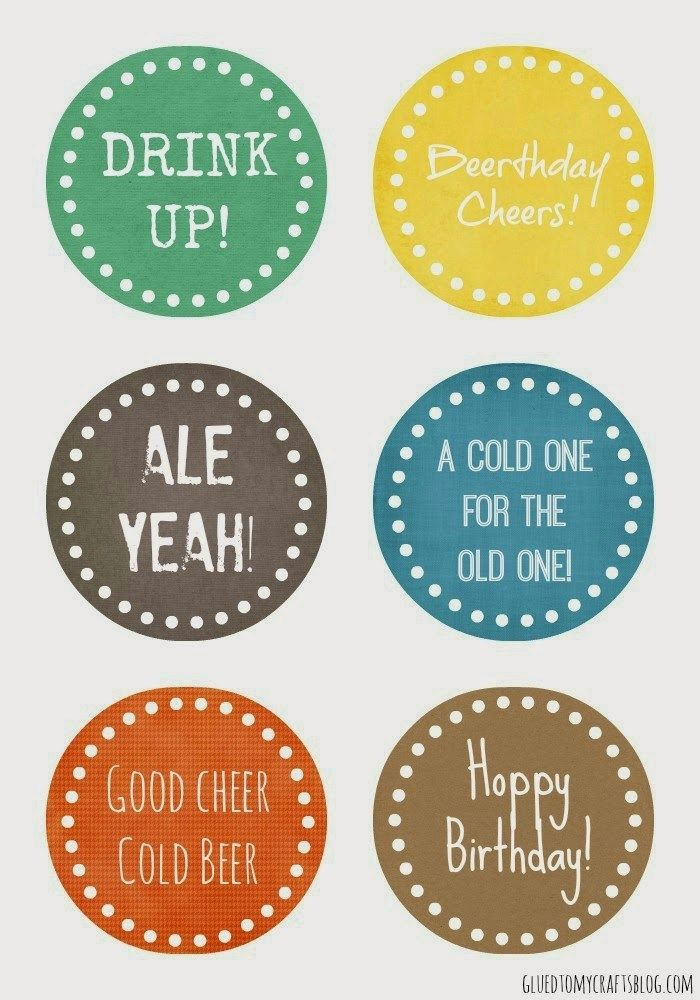 Birthday Beer Gift Tag