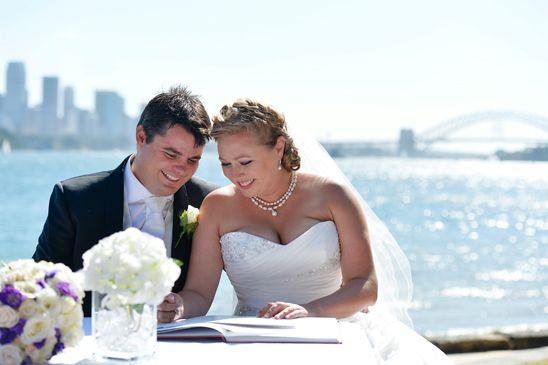 Sydney Harbour Wedding for Central Coast Couple - Bradleys Head Ampitheatre. Sydney Wedding Photographer by Impact Images - www.impact-images.com.au