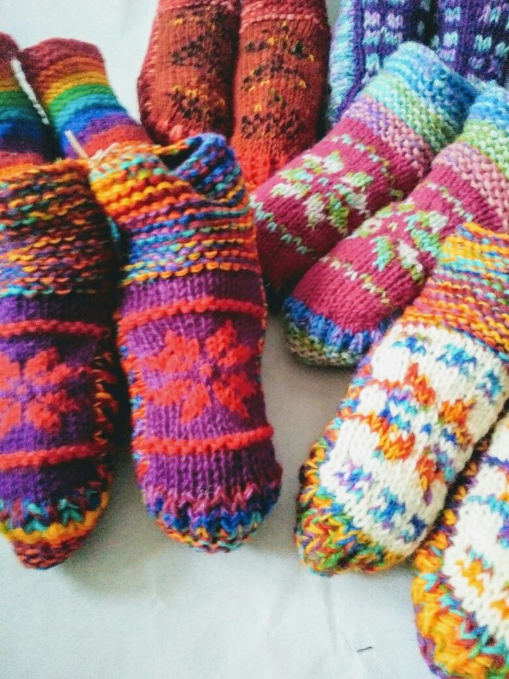 Woollen Slippers  By Boho Hippy Chic