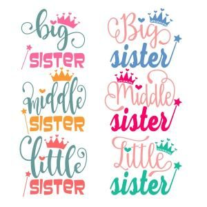 {FREE Cut File} Sisters SVG Designs-- Available today only, June 27