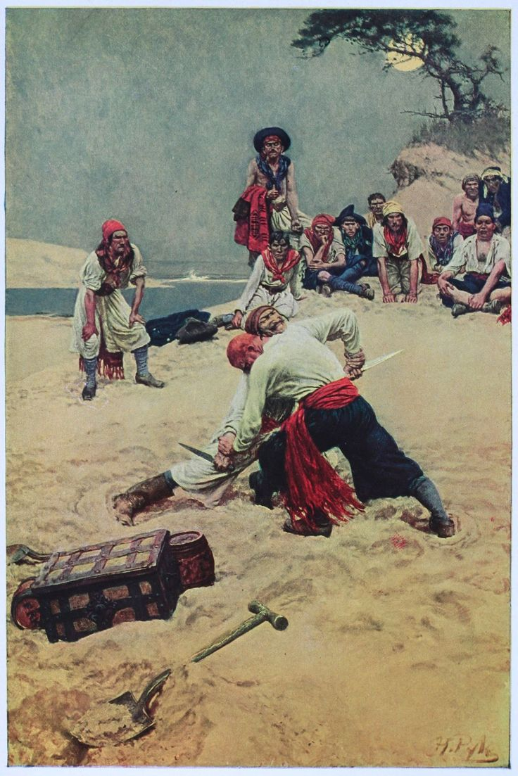 Book of Pirates—Fight Over Treasure by Howard Pyle (c1911)