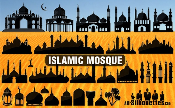30+ Islamic Mosque Vector Silhouettes